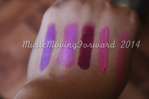 'Heroine', 'Brazen Berry', 'Sugar Plum Fairy', 'Dolly Pink', 'A Stiff Pink
