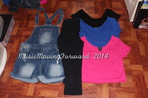 Overalls Cropped Leggings Crop Tops: Black, Blue