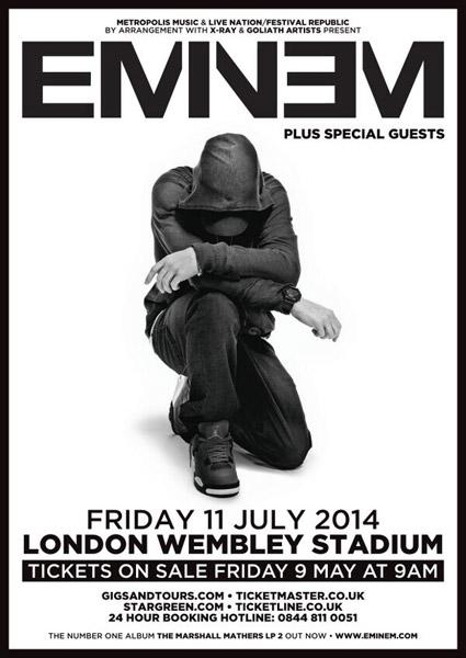 Eminem to Headline Wembley Stadium