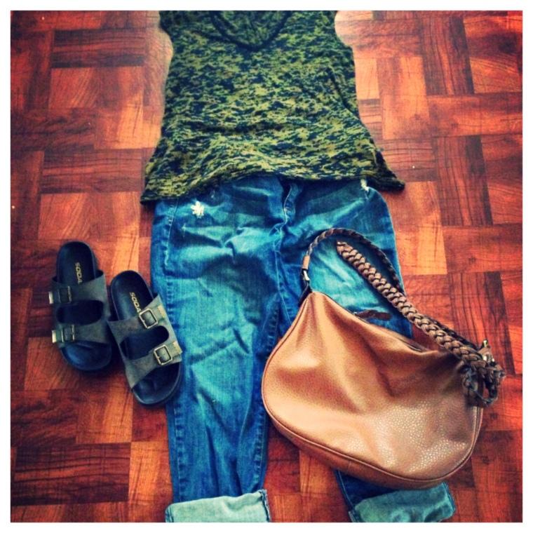 Shirt - Joyce Leslie Jeans - Lauren Conrad, Kohls Shoes - LuLu's.Com Purse - Charlotte Russe