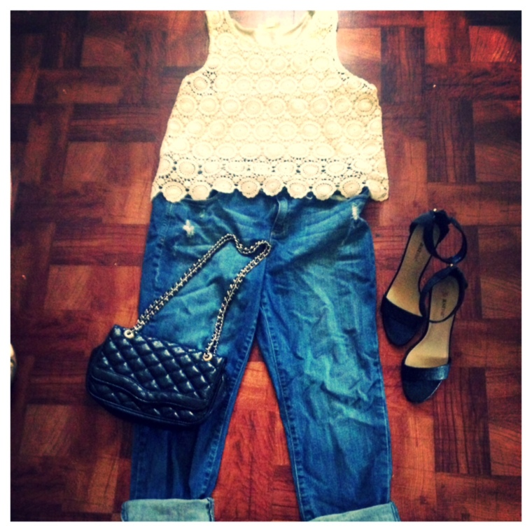 Top - Forever 21 Jeans - Kohls, Lauren Conrad Shoes - Just Fab Purse - Aldo