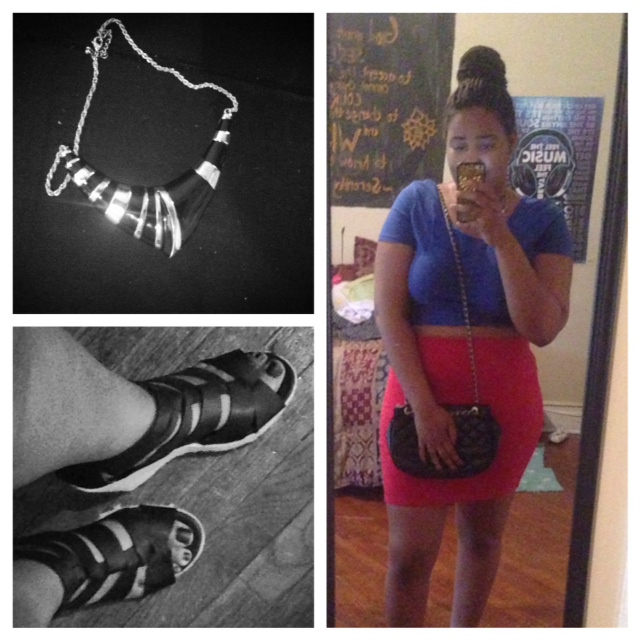 Crop Top - Wet Seal Skirt - Forever 21 Purse - Aldo  Shoes - Target Necklace - Forever 21