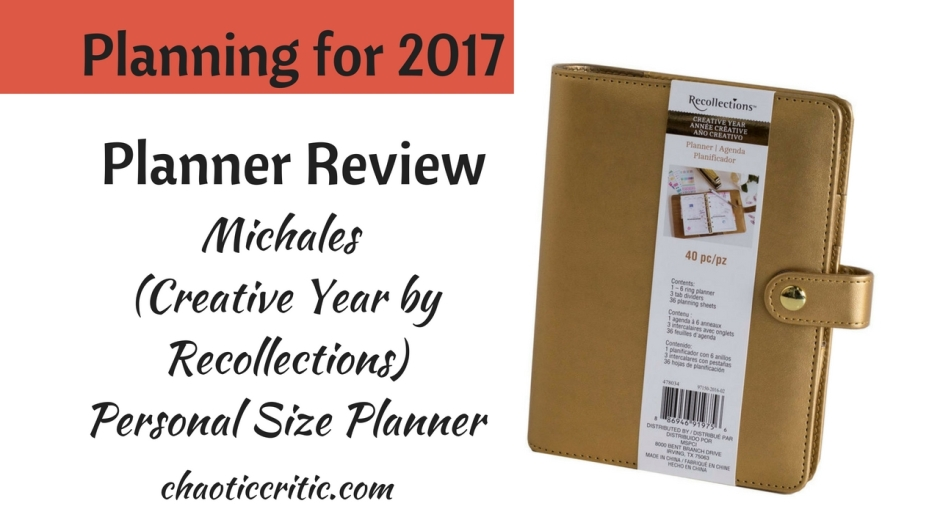 Planning for 2017 michaels personal size planner mightylinksfo