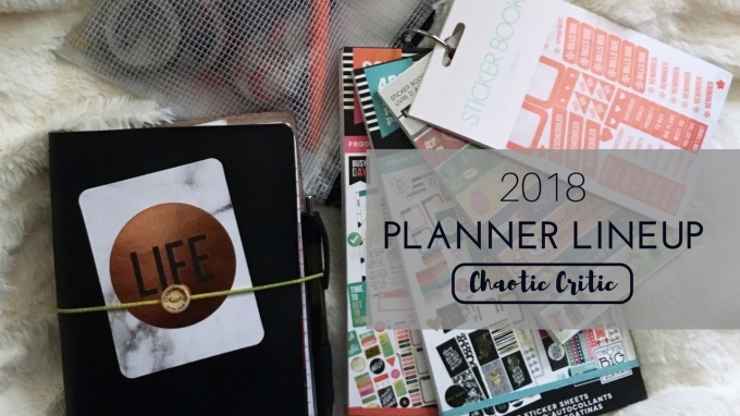 2018 Planner Lineup