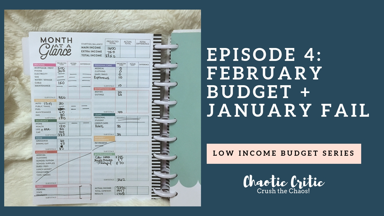 photograph relating to Month at a Glance Budget referred to as Episode 4: Lower Sales Funds Collection February Spending plan +
